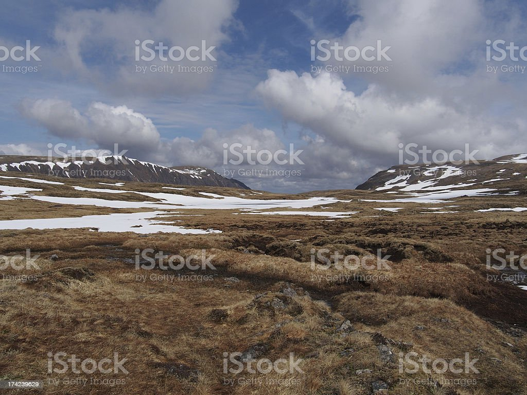 Cainrgorms plateau, south of Braeriach, Scotland in spring royalty-free stock photo