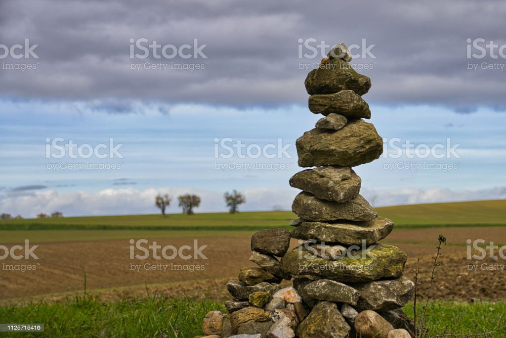 Cairn stock photo