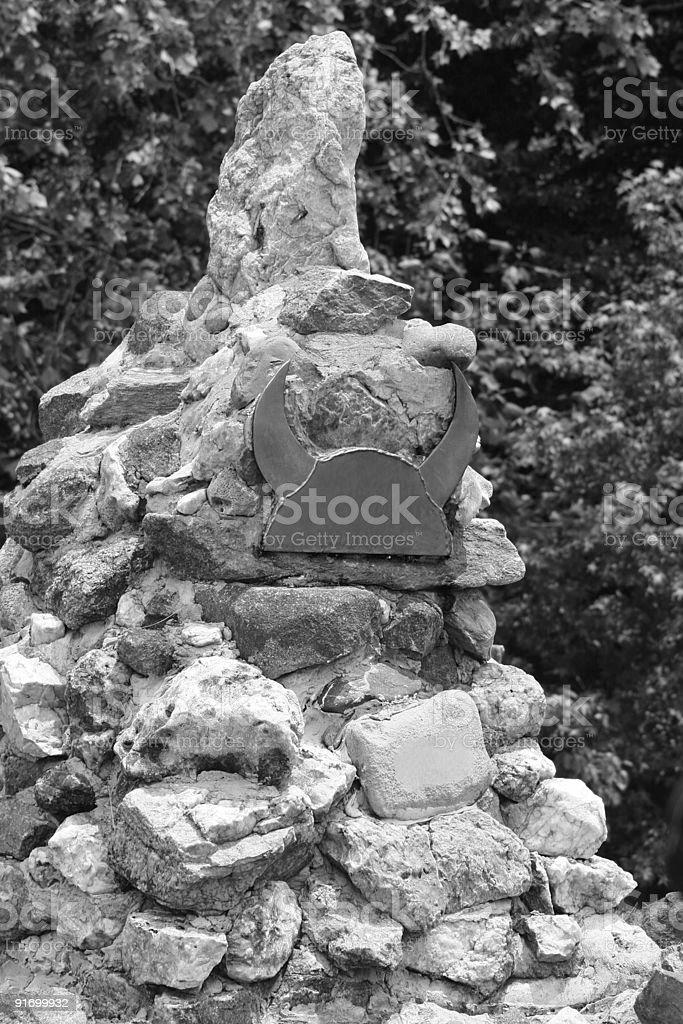 Cairn stock photo