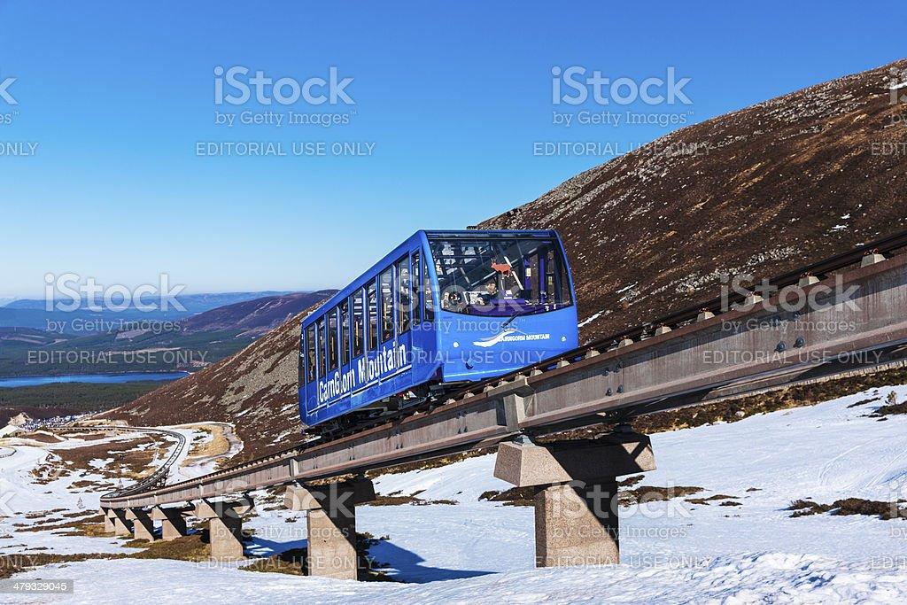 Cairngorm Mountain Funicular Railway stock photo