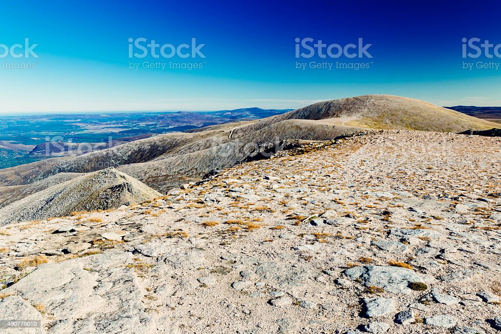 Cairngorm Mountain, Scotland stock photo