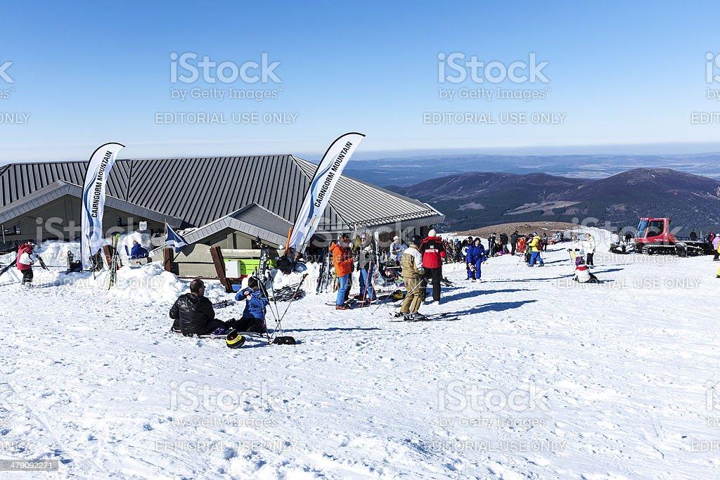 Cairngorm ski area, Scotland stock photo