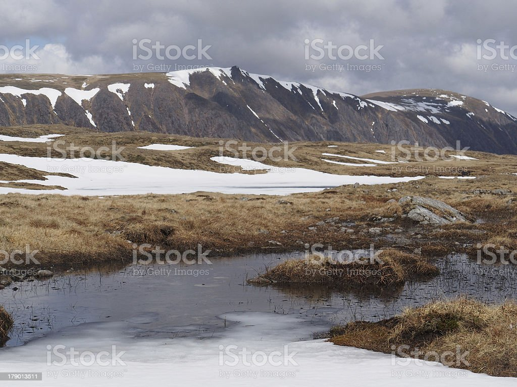Cairngorms plateau south of Braeriach, Scotland in spring royalty-free stock photo