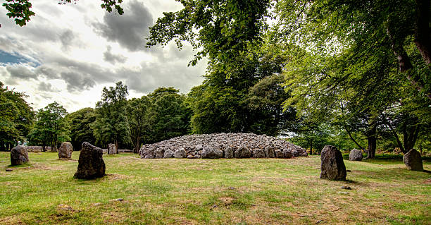 Clava Cairn Famous Stone Ring in Scottland near Culloden Battflield Inverness culloden stock pictures, royalty-free photos & images