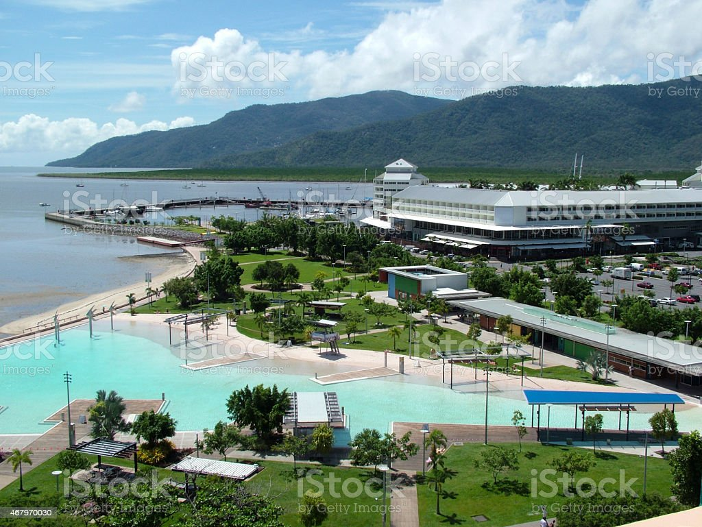 Cairns Lagoon and Pier stock photo