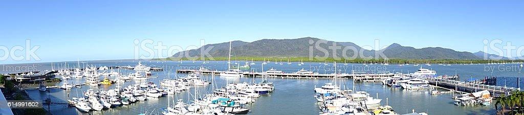 Cairns Marina panorama stock photo