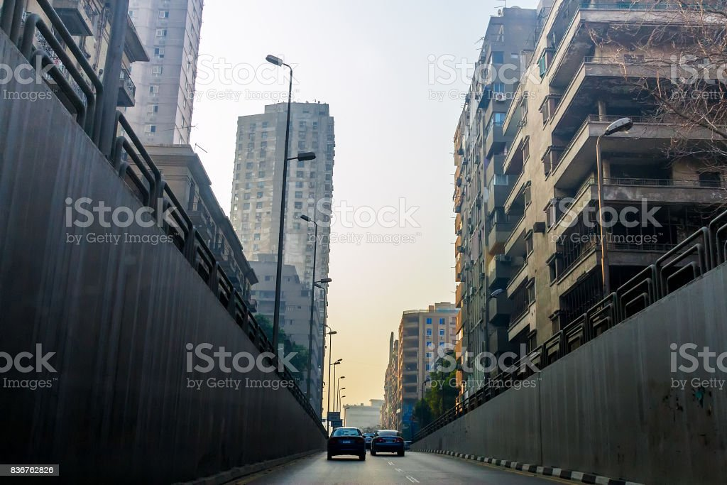 Cairo after the revolution of the Muslim Brotherhood stock photo