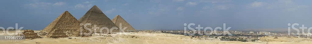 Cairo and the Pyramids of Giza royalty-free stock photo