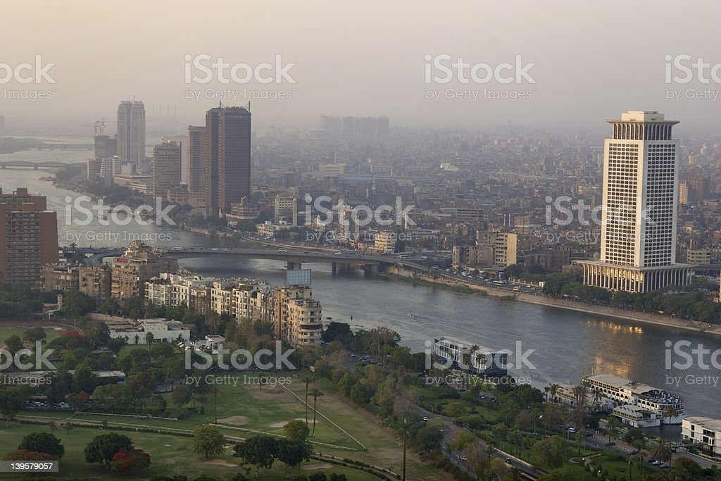 Cairo by the river Nile stock photo