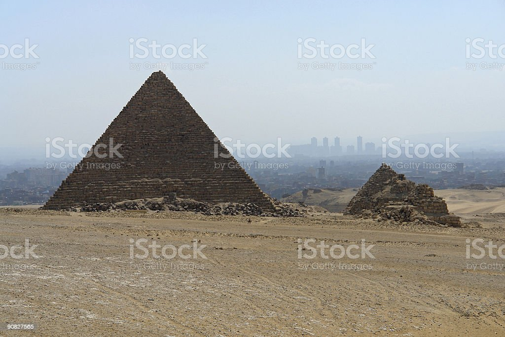 Cairo in fog royalty-free stock photo