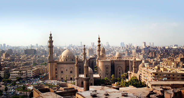 Cairo skyline, Egypt Cairo skyline, Egypt place of worship stock pictures, royalty-free photos & images