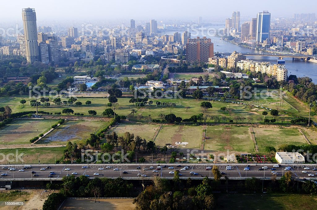 Cairo skyline in Egypt stock photo