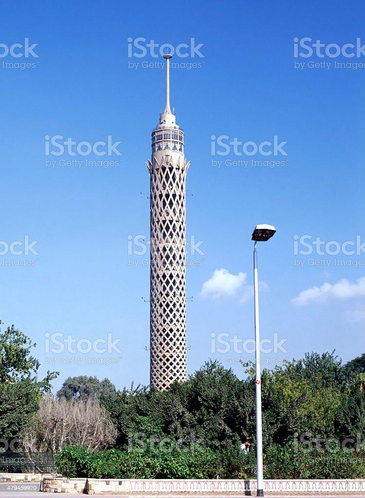 Cairo Tower on Gezira Island, Egypt stock photo
