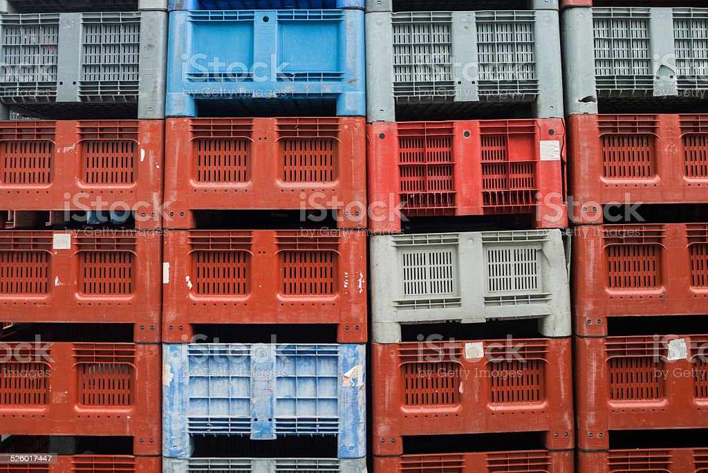 caisse, En plastique, Palette, Récipient en plastique, Boîte stock photo