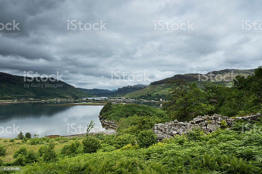 Caisteal Grugaig, Loch Alsh and Loch Long stock photo