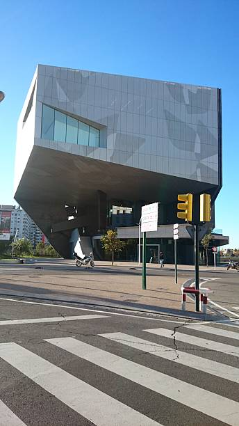 Caixa Forum Zaragoza Zaragoza, Aragon, Spain - October 15,2015. Cultural center run by La Caixa through its foundation as part of the Social Work of the entity.The architect Carme Pinos won the tender for construction in 2009. time magazine stock pictures, royalty-free photos & images