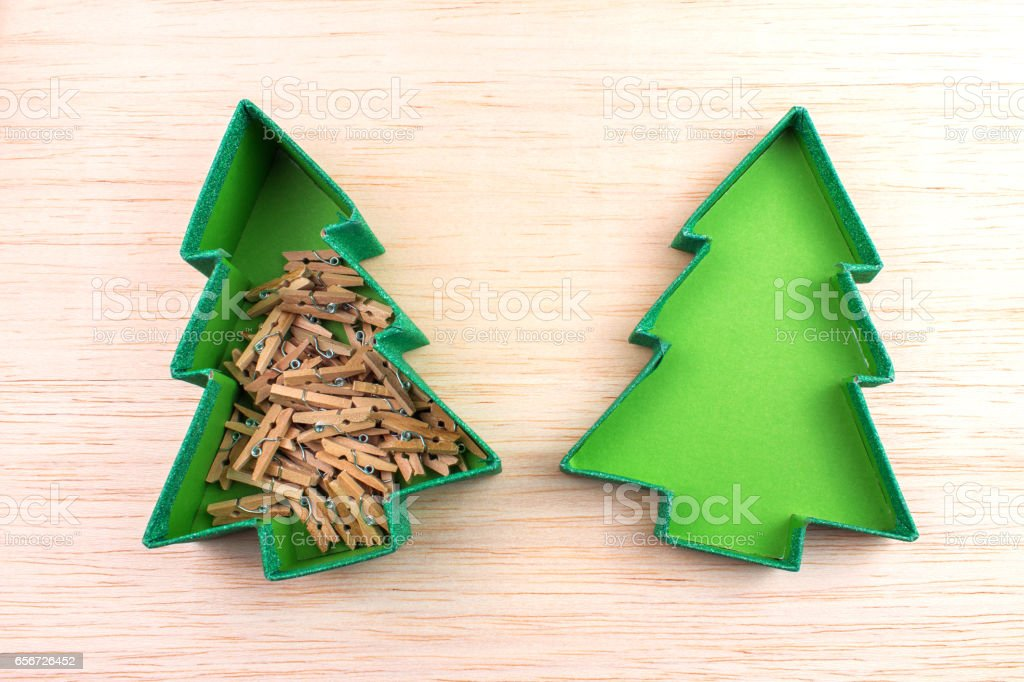 Caja navideña stock photo