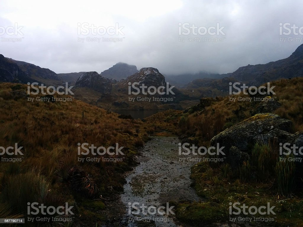 Cajas - The Beautiful Road Less Travelled stock photo