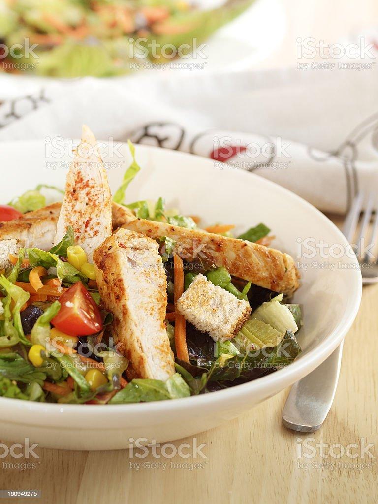 cajun chicken salad stock photo