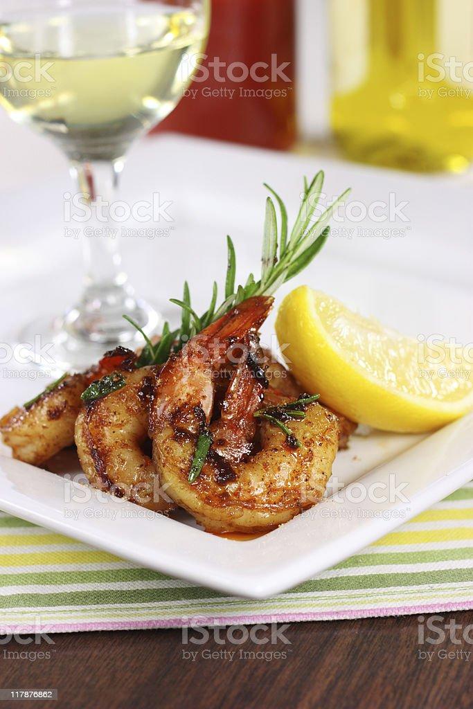 Cajun Shrimp royalty-free stock photo