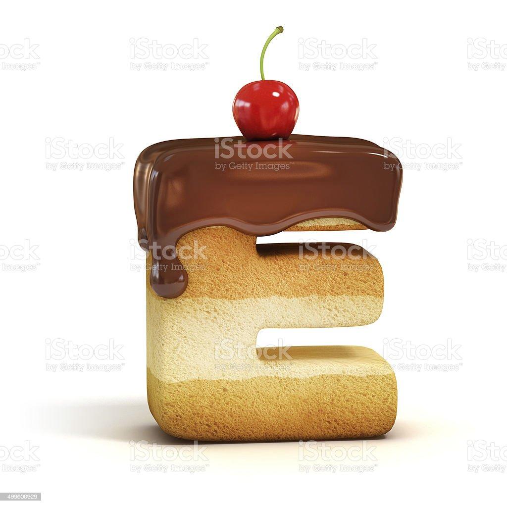 cake 3d font letter E foto
