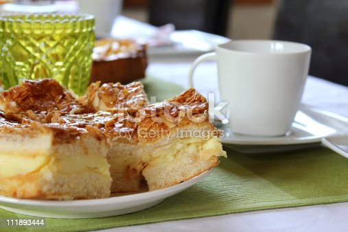 Cake And Cup Of Coffee Stock Photo & More Pictures of Almond