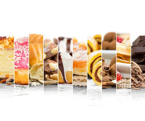 cake and dessert mix - zimt waffeln stock-fotos und bilder