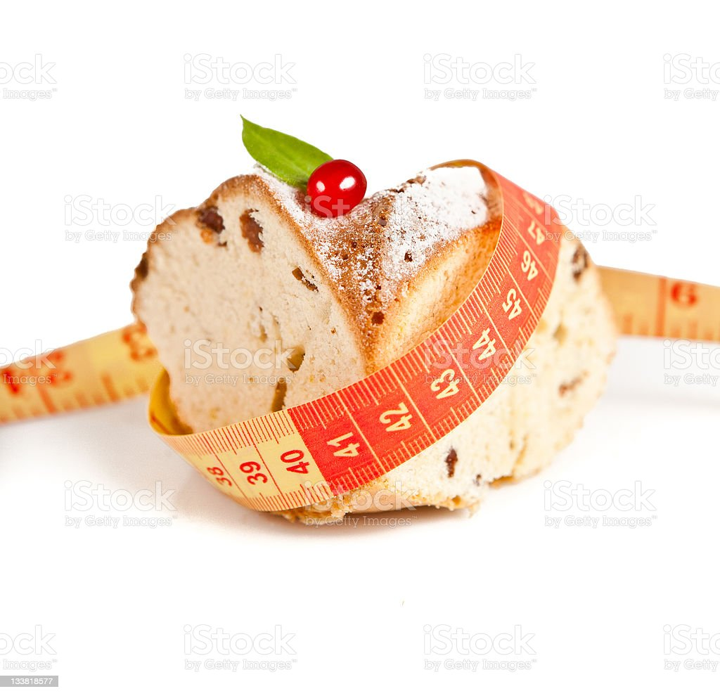 Cake and tape royalty-free stock photo