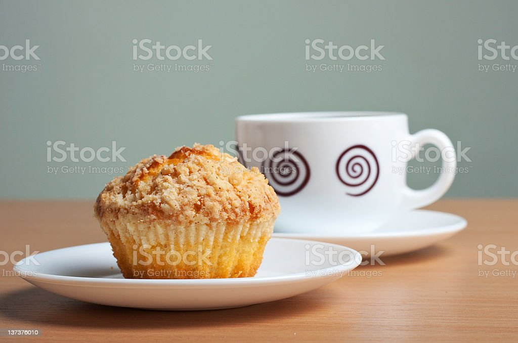 cake and the coffee royalty-free stock photo