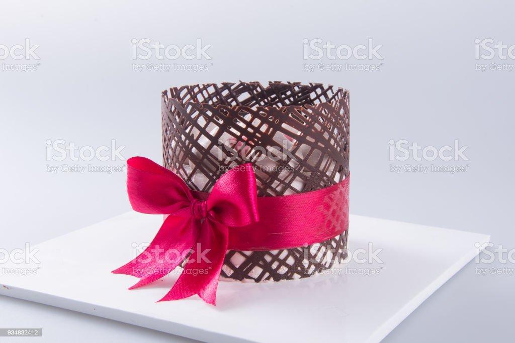 케이크, 배경에 생일 아이스크림 케이크 - 로열티 프리 과일 스톡 사진