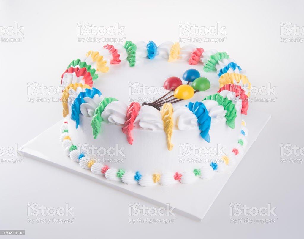 케이크, 배경에 생일 아이스크림 케이크 - 로열티 프리 0명 스톡 사진