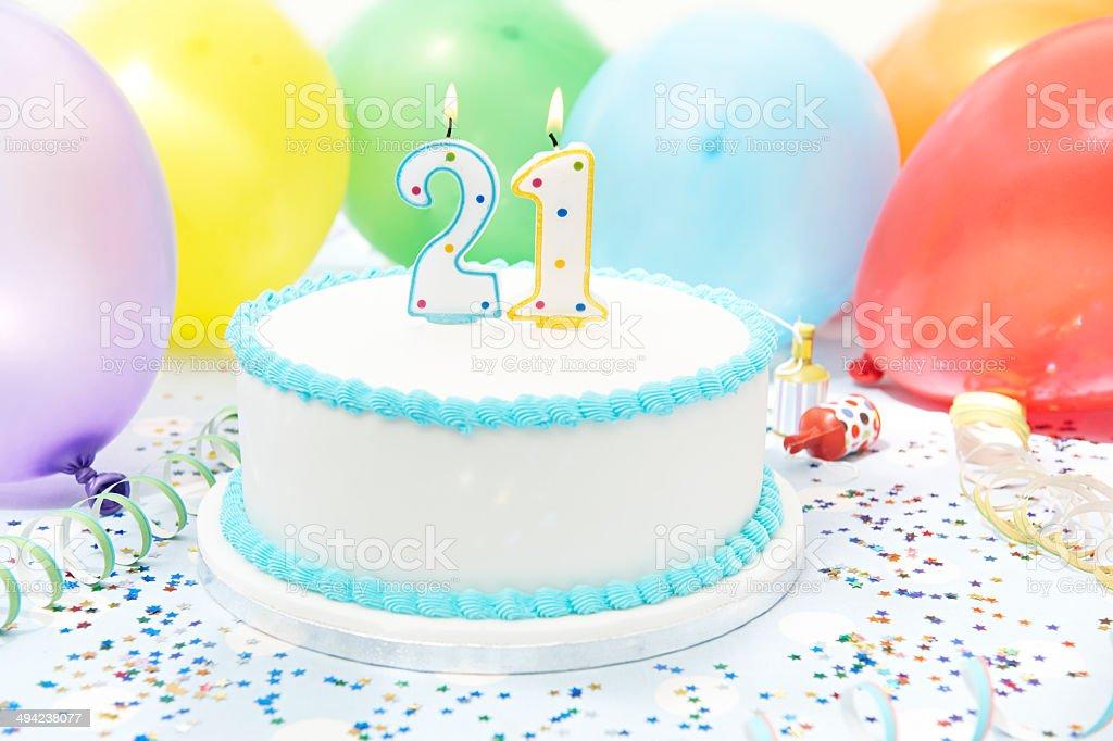 Cake Celebrating 21st Birthday stock photo