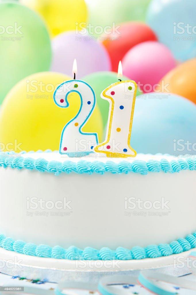 Miraculous Cake Celebrating 21St Birthday Stock Photo Download Image Now Funny Birthday Cards Online Amentibdeldamsfinfo