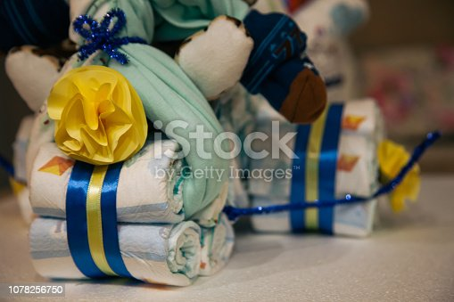 875685464 istock photo Cake diaper 1078256750
