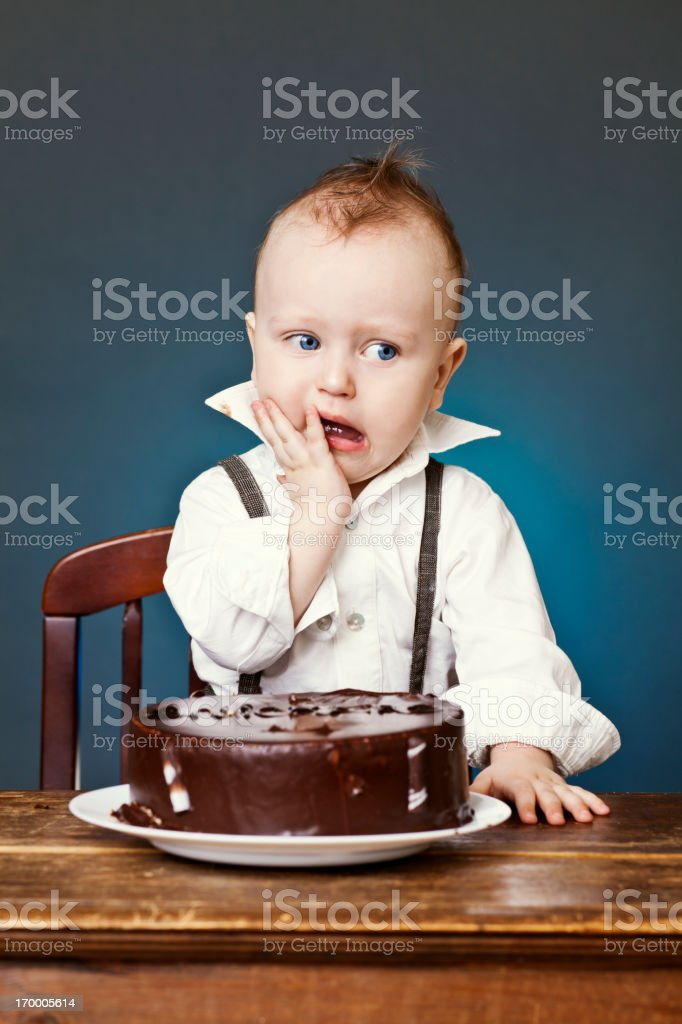 Cake Face royalty-free stock photo