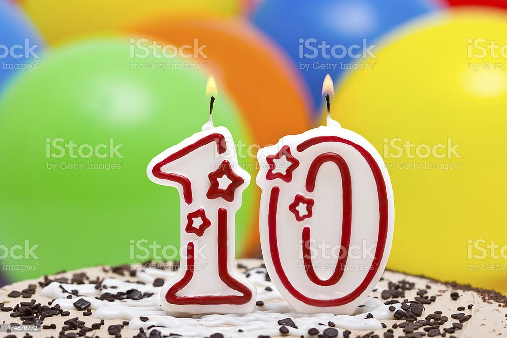 Cake for 10st  birthday. royalty-free stock photo