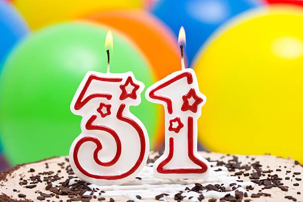 Cake For 31st Birthday Stock Photo