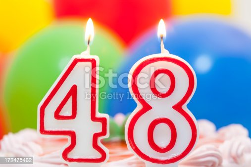 Cake For 48th Birthday Stock Photo Amp More Pictures Of