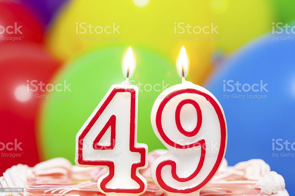 Cake for 49th birthday royalty-free stock photo