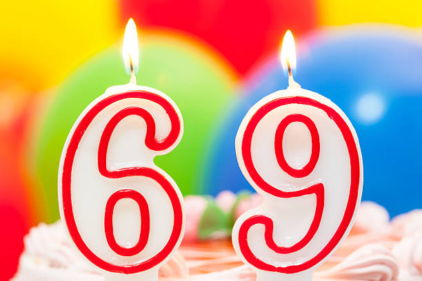cake for 69th birthday - number 69 stock photos and pictures