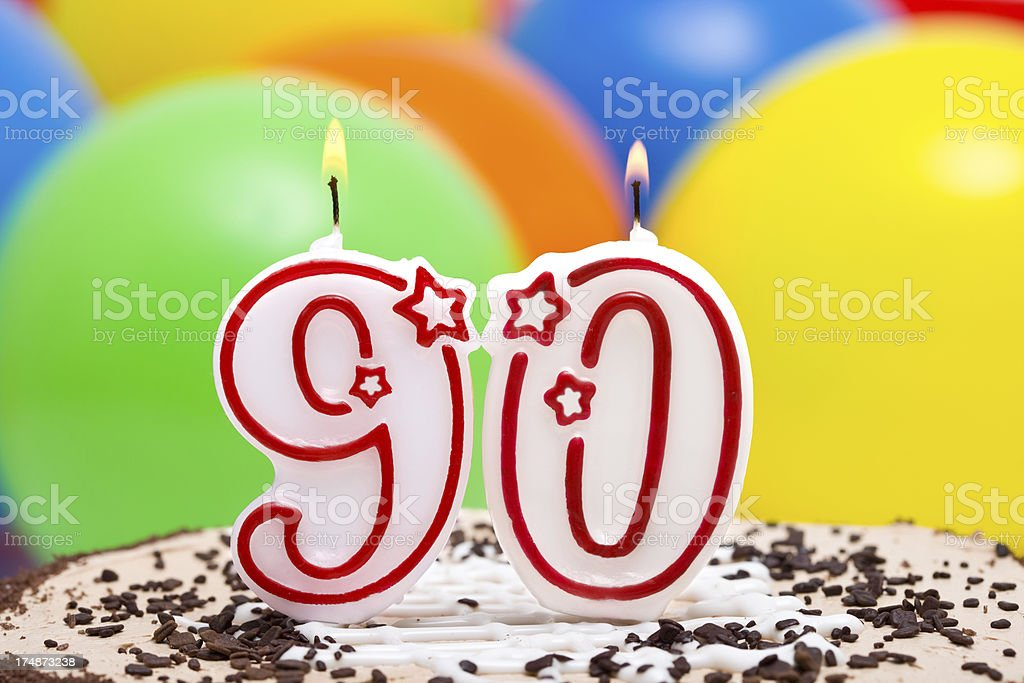 Cake for 90st birthday royalty-free stock photo