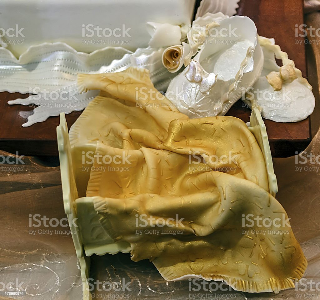 Cake for Christening. Detail royalty-free stock photo