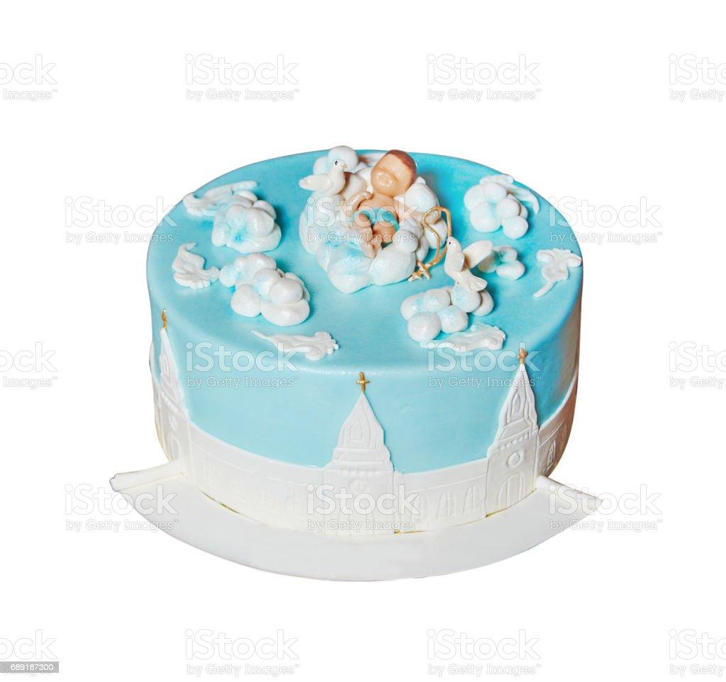 Kuchen Für Taufe Party Für Junge Stockfoto Und Mehr Bilder Von Baby