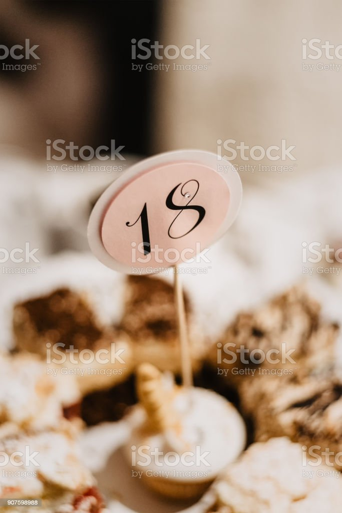cake for the 18th birthday stock photo