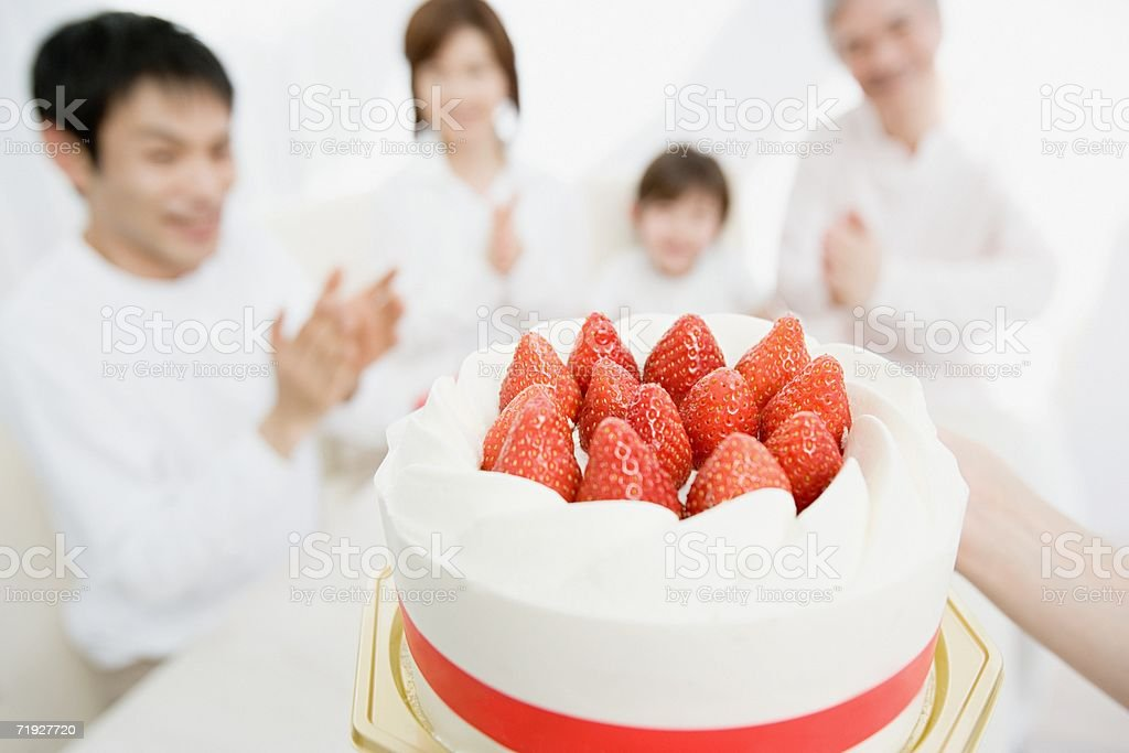 Cake for the family royalty-free stock photo
