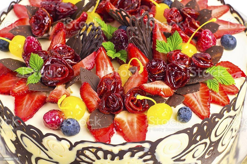 Kuchen Obst Dekoration Stock Fotografie Und Mehr Bilder Von Apfel