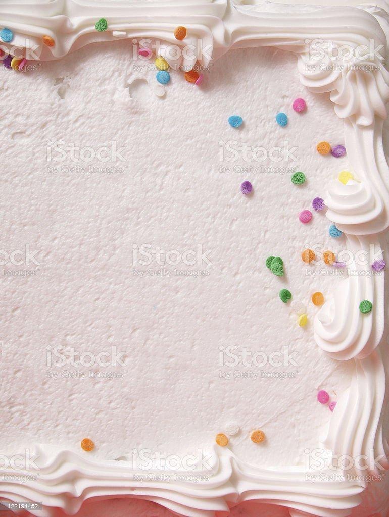 Cake Icing Close Up stock photo