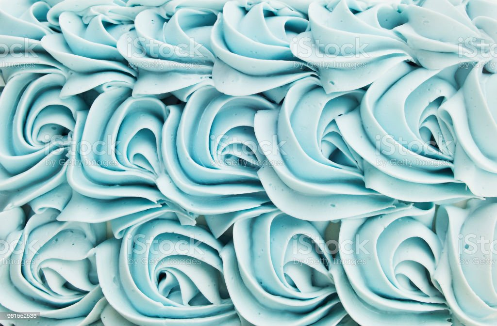 Cake Icing Floral Swirl Background stock photo