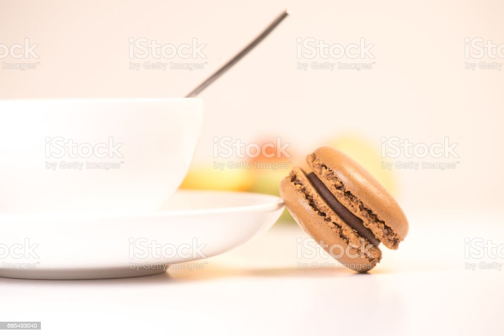 Cake macaron or macaroon isolated on white background, sweet foto de stock royalty-free