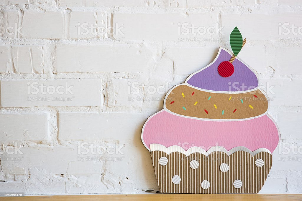 Cake Made Of Paper On White Background Royalty Free Stock Photo